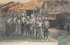 VIETNAM ~ GROUP OF YOUNG CHILDREN POSE ON A VILLAGE STREET ~ used 1908