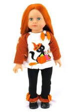 Black Cat Halloween Outift for 18'' dolls by American Fashion World New