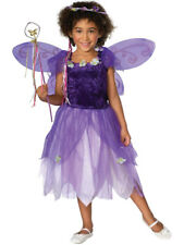 Plum Pixie Fairytale Fancy Dress Kids Girls Fairy Costume And Wings Ages 3-10