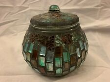 Mosaic Stained Glass Tiles Bowl With Airtight Lid
