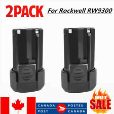 2 Pack 12V For Rockwell RW9300 RW9400 2.0Ah Lithium Crodless Power Tool Battery