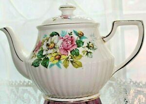 Vintage Tea Pot Old Fashion Roses Sadler England