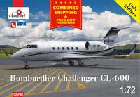PASSENGER AIRCRAFT BOMBARDIER CHALLENGER CL-600 AMODEL 72298 CIVIL AIRCRAFT 1/72