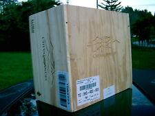6 Btl. - CHEVAL DES ANDES-2010  Wood Wine Box  (ARGENTINA) HEAVY CONSTRUCTION