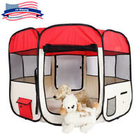 """36""""Pet Dog Cat Tent Playpen Portable Folding Travel Cage Crate Kennel In/Outdoor"""