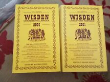 Immaculate Two Wisden Cricketers Almanacks 2000 & 2001