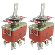 2 Pcs  Metal Resin AC 250V 15A Amps ON/OFF/ON 3 Position DPDT Toggle Switch New