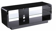 Alphason New Alpha Luna 1200 Black Gloss TV Stand ADLU1200-BLK