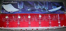 Six Crystal D'Arques Diamond Champagne Glasses / Goblets 24% Lead Crystal 62510
