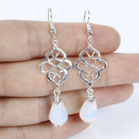 Women Hook Pendant Dangle Drop Earrings Eardrop Jewelry Flower Water Drop