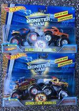 2018 Monster Jam Trucks Lot Demolition Doubles Hot Wheels El Toro Both Sets 50th
