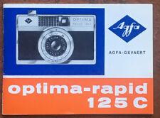 AGFA optima-rapid 125 C  - Anleitung von 01.67