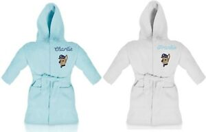BOYS CHASE PAW PATROL personalised dressing gown/bathrobe embroidered with name