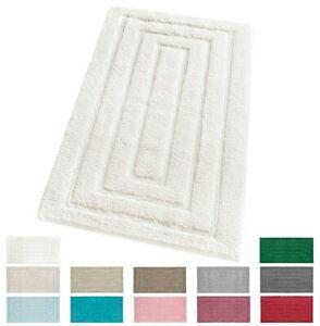 Bathroom Rug Room Bedside Carpet Soft Pure Cotton Elegant 100% Made IN Italy