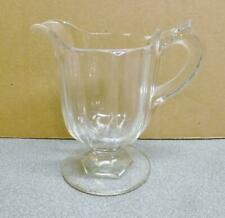 Vintage Hocking? Clear Glass Small Milk Pitcher.