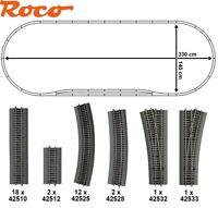 Roco H0 51313-3 Roco Line-Gleisset 36-teilig mit 2 Weichen - NEU