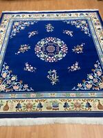 """8'2"""" x 8'2"""" Square Chinese Aubusson Oriental Rug - Hand Made - 100% Wool"""