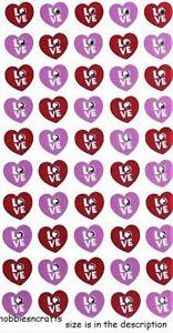 Amore Cuore Gemme Sticko 3-D Gemma Adesivi - Cuori - Amore Gettoni