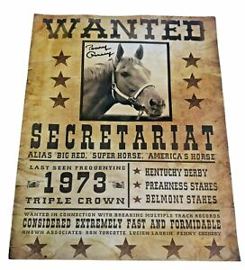 Secretariat 1973 Triple Crown Winner Poster Autographed by Penny Chenery
