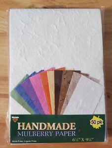 Craft/Scrapbooking/Art Supplies--Handmade Mulberry Paper--50 pack