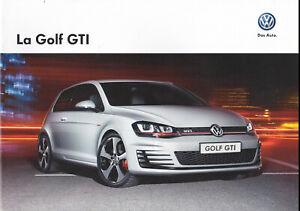 brochure 2014 VOLKSWAGEN GOLF GTI !!! _________ en français ____________________