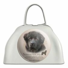 Newfoundland Dog Breed White Metal Cowbell Cow Bell Instrument