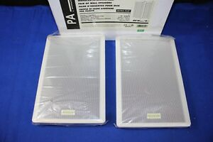 PA by Monacor SMB-130/WS Ultra Flat Wall Speakers (2509-22G)