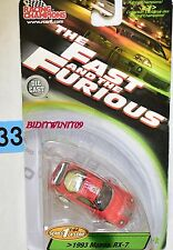 COURSE CHAMPIONS THE FAST AND THE FURIOUS 1993 Mazda RX-7 Rouge W +