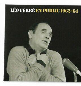 LEO FERRE : EN PUBLIC 1962-1964 ( 2 récitals inédits - 21 Titres + 1 Bonus )
