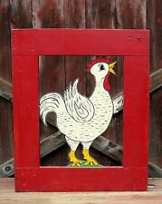 Vintage Painted Folk Art Amusement Park Farm Barn Chicken Gate Carnival AAFA