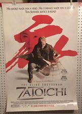 Original Movie Poster Zatoichi Double Sided 27x40