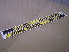 JOHN DEERE GARDEN TRACTOR 318 HOOD DECALS SET