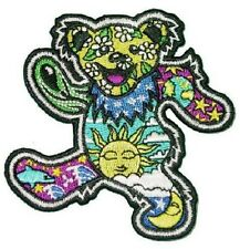 "(X) Dan Morris Grateful Dead DANCING BEAR iron on patch 3-1/2"" (AF116) ©GDP"