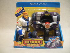Rescue Heroes Mobile Force Warren Waters & Rover Factory Sealed!
