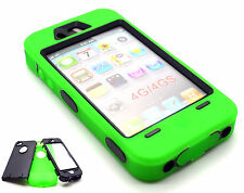 Heavy Duty Builders Workman Green Armour Case for iPhone 4 & 4S - STURDY CASE