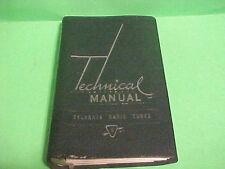 Vintage 1951 8Th Revised Sylvania Technical Manual Tubes Television Flex Binder