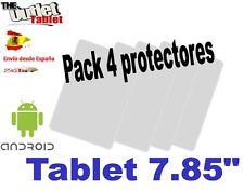 "Pack 4 Protectores pantalla Universales para tablet 7.85"" 7,85 pulgadas"