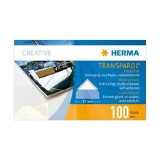 HERMA PHOTO CORNERS EXTRA LARGE PACKS 100 37MM ACID FREE ARCHIVAL SAFE H1302