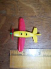 "Vintage aircraft plane red green yellow Klemm 2"" Mini Airplane Germany 80s"