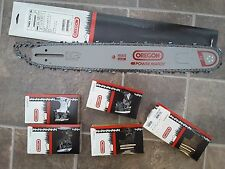"20"" Oregon chainsaw guide bar 200RNDD009 & 5 chain combo 371,372,385,390,7900"