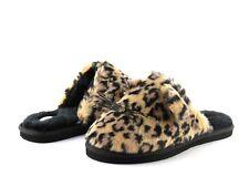 Kate Spade Belindy Leopard Printed Plush Fur Cat Slipper NEW In Box Size 5