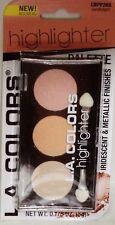 LA COLOR Trio Highlighter Palette Powder Iridescent Metallic Finish CANDLELIGHT