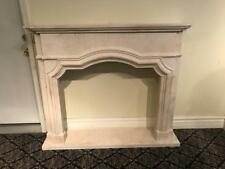 Hand Carved Solid Marble European Design Fireplace Mantel - Dnn1
