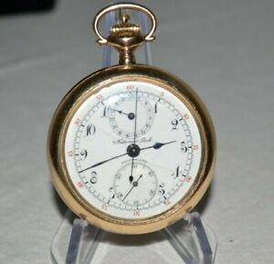 Vintage GALLET National Park CHRONOGRAPH Pocket Watch CHRONOMETER Parts/Repair