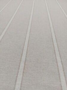 French Linen Double Stripe Fabric in Cream Double Width 280cm | Curtains Blinds