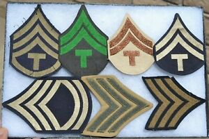 US UNIFORM MILITARY UNIT CLOTH PATCH LOT OF 6 PATCHES INSIGNIA CHEVRONS