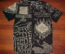 Harry Potter Warner Brothers The Marauders Map Moony Worm Padfoot Black Shirt S