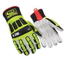 Ringers R 260 Roughneck Lime Hi Viz Cut Lvl 2 Gloves Pair With Cotton Palm Lrg