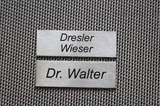 Edelstahlschild, Metall, Klingelschild, Briefkastenschild,Namensschild,