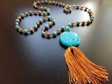 Modeschmuck-Halsketten & -Anhänger für Damen mit Türkis-Messing